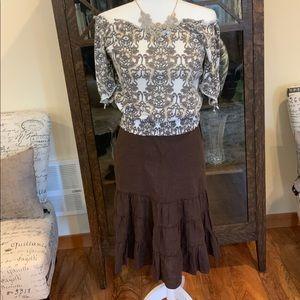 Lucky Brand Linen Skirt